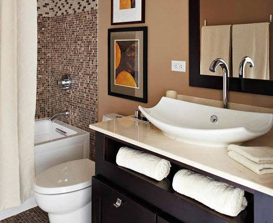 Stylish Colored Bathrooms Modern Sleek Combinations