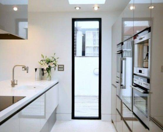 Stylish Functional Super Narrow Kitchen Design