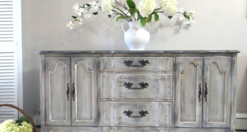 Stylish Gray Shabby Chic Furniture Ideas Round Decor