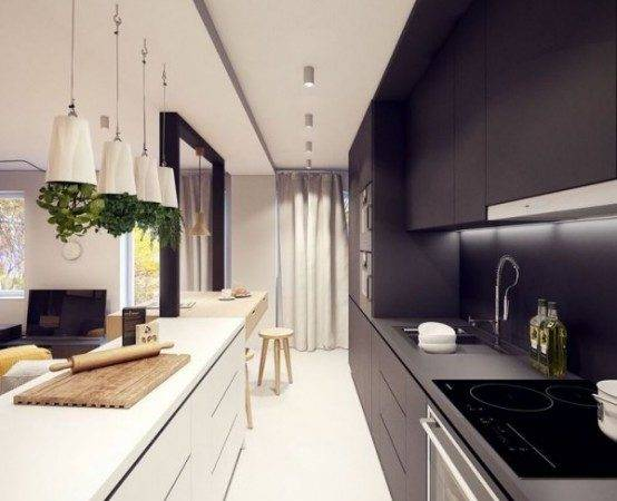 Stylish Long Narrow Kitchen Ideas Godfather Style