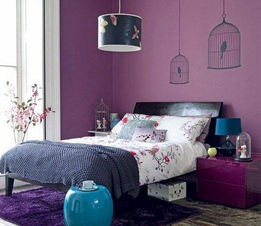 Stylish Relaxing Bedroom Colors Black Furniture