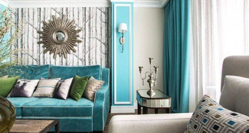 Stylish Turquoise Curtains Living Room Homedcin