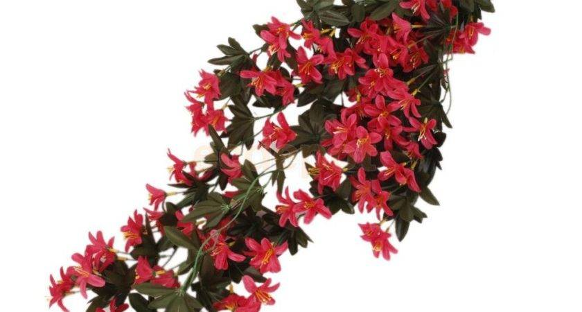 Stylized Artificial Silk Begonia Flowers Vine Hanging