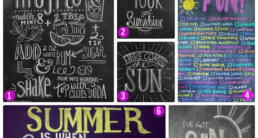 Summer Chalkboard Art Chalkboards Apples