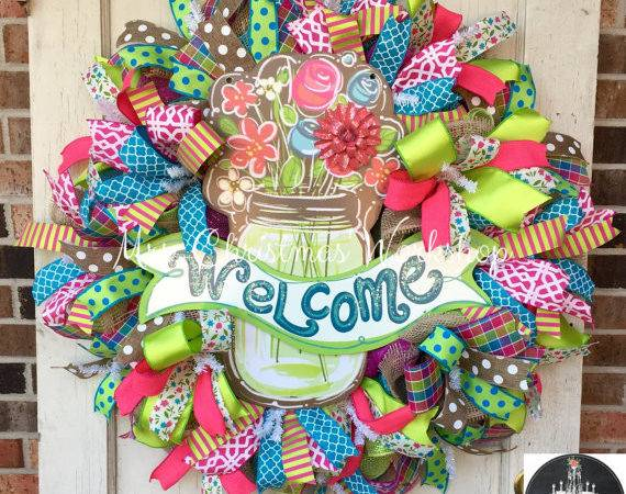 Summer Deco Mesh Wreath Spring Southern