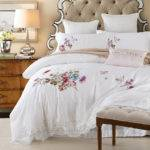 Summer Queen King Cotton Bed Set Lace
