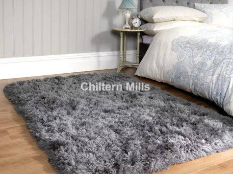 Sumptuous Shaggy Slate Grey Rug Chiltern Mills