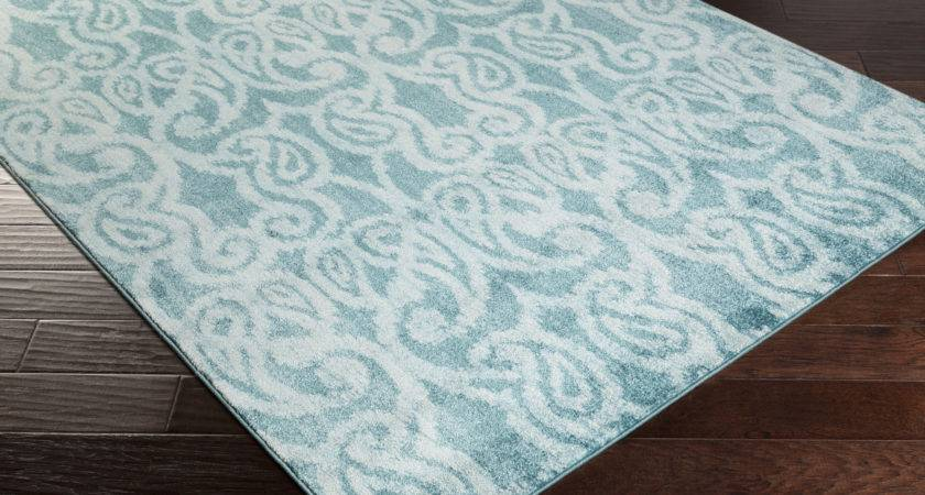 Surya Aberdine Teal Light Gray Ikatarea Rug Reviews