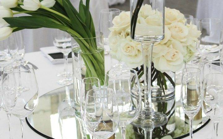 Table Mirror Centerpiece Round Tabletop