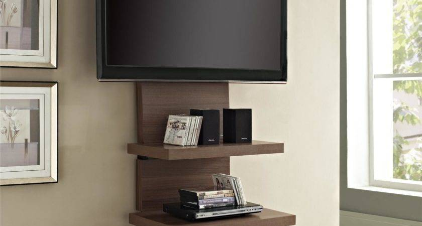 Tall Wood Wall Mounted Stand Shelves Mount