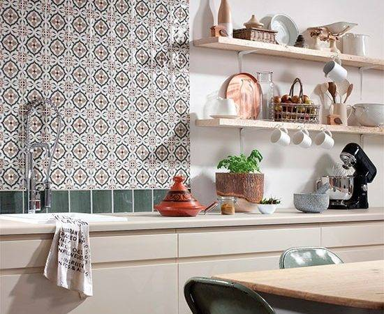 Tangier Decorative Tile Splashback Topps Tiles