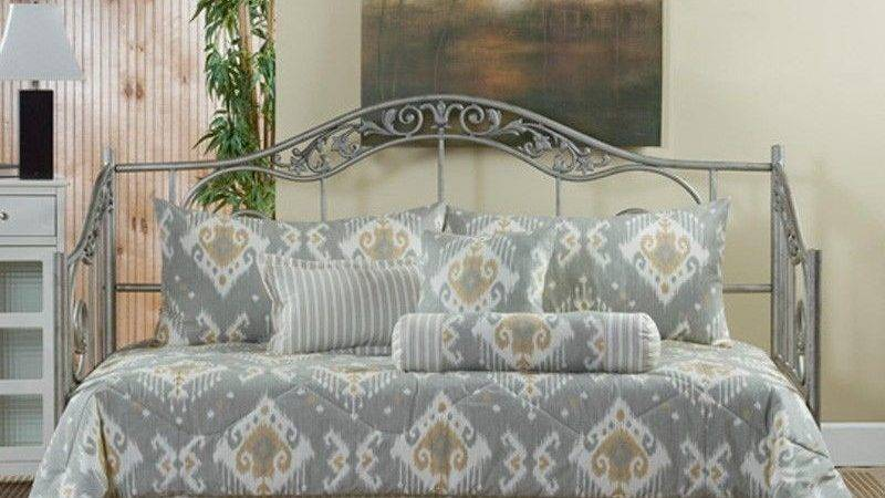 Taos Gray Gold Off White Southwestern Daybed Bedding