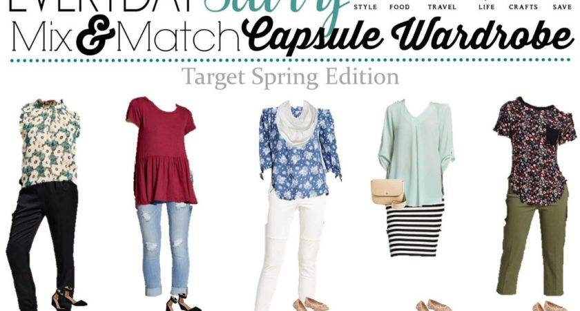Target Spring Capsule Wardrobe Mix Match Outfit Ideas