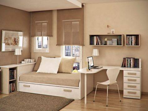 Taupe Beige Kids Room Interior Design Ideas