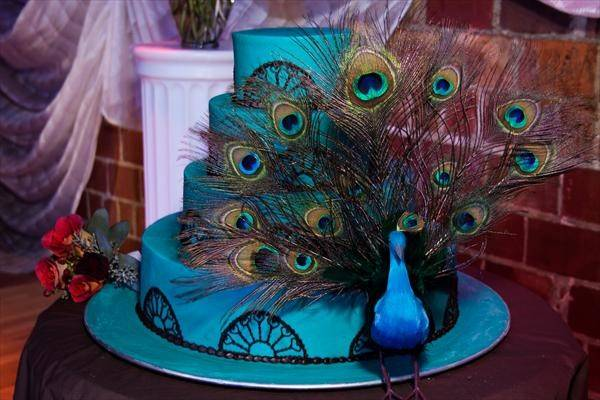 Tbdress Blog Unique Amazing Peacock Themed Wedding