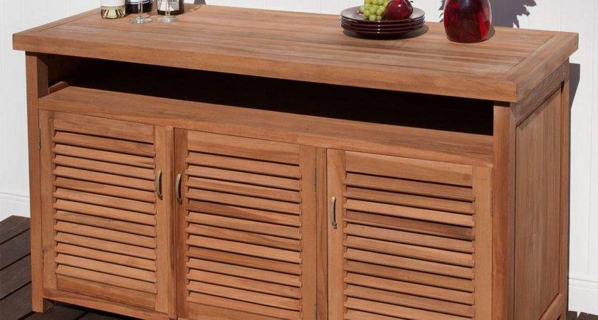 Teak Outdoor Buffet Storage