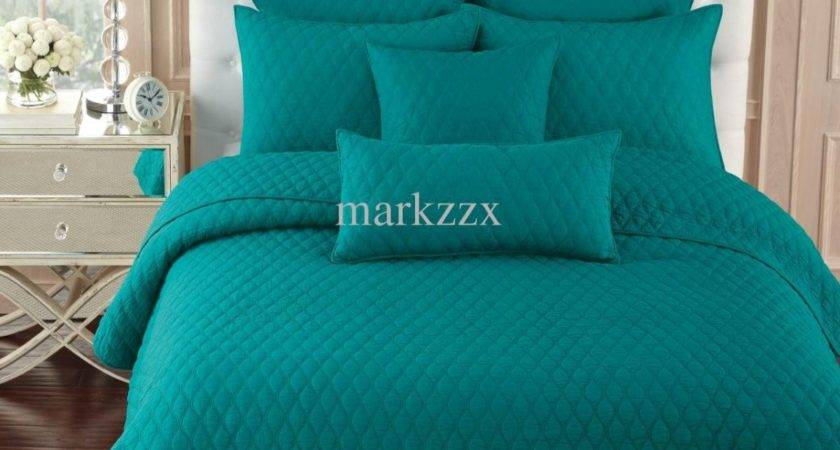 Teal Bed Comforters Simple Bedroom Serenity