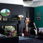 Teal Black White Living Room Ideas