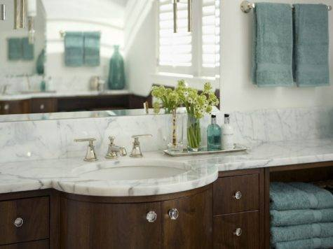Teal Brown Bathroom Contemporary