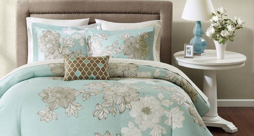 Teal Brown Bedding