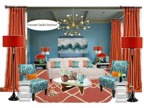 Teal Burnt Orange Living Room Mood Board Conceptcandie