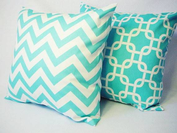 Teal Decorative Throw Pillow Covers