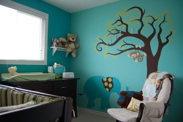 Teal Elephant Nursery Contemporary Kids Toronto