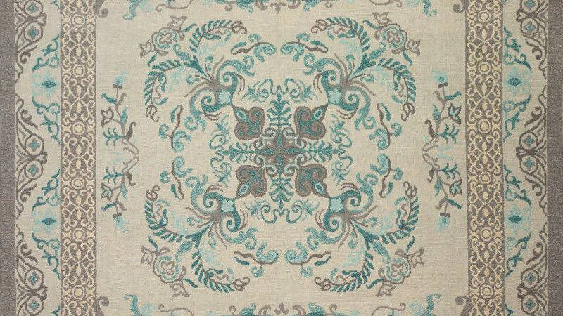 Teal Gray Area Rug Modern Grays