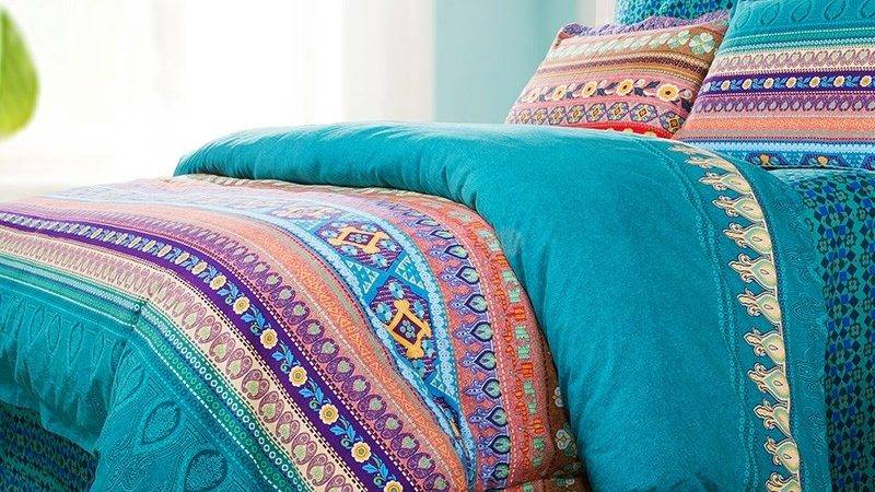 Teal Green Purple Coral Red Bohemian Indian Tribal