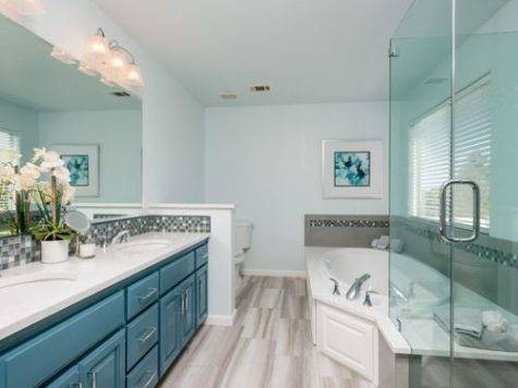Teal Grey Bathroom Houzz