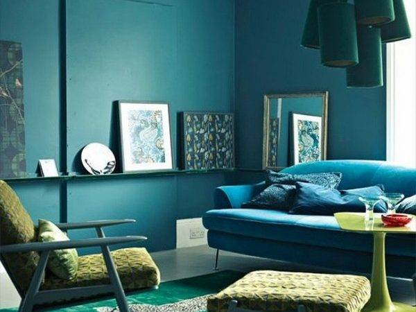 Teal Living Room Design Ideas Trendy Interiors Bold