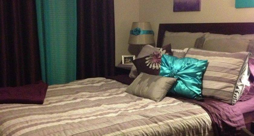 Teal Purple Bedroom Real Estate