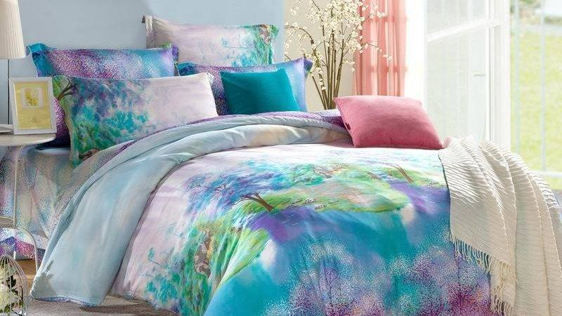Teal Purple Green Oriental Country Chic Style