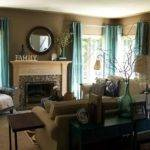 Teal Taupe Living Room Contemporary