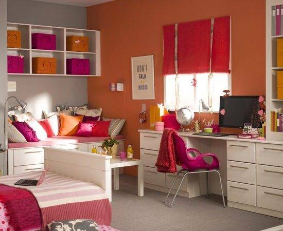 Teenage Girl Bedroom Ideas Bright Colors