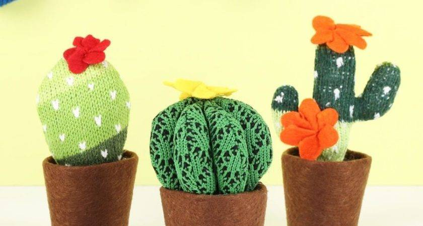 Temerity Jones Knitted Cactus Decoration Lisa Angel