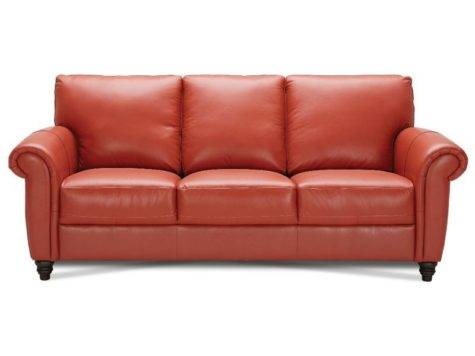 Terracotta Leather Sectional
