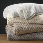 Textural Knit Oversized Bed Throw Restoration Hardware