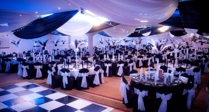 Themed Christmas Party Black White Masquerade Ball
