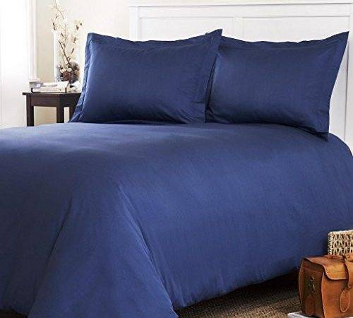 Thread Count Egyptian Quality Solid Duvet Cover Set