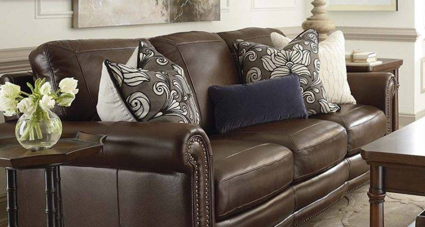 Throw Pillows Brown Leather Couch Color