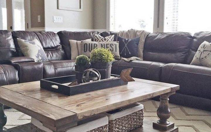 Throw Pillows Dark Brown Leather Sofa Teachfamilies
