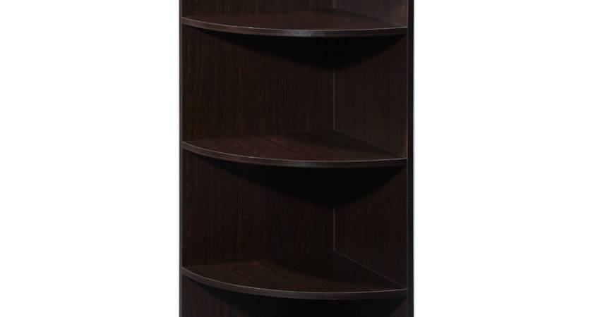 Tier Shelf Bookcase Audio Stand Corner Display Shelves