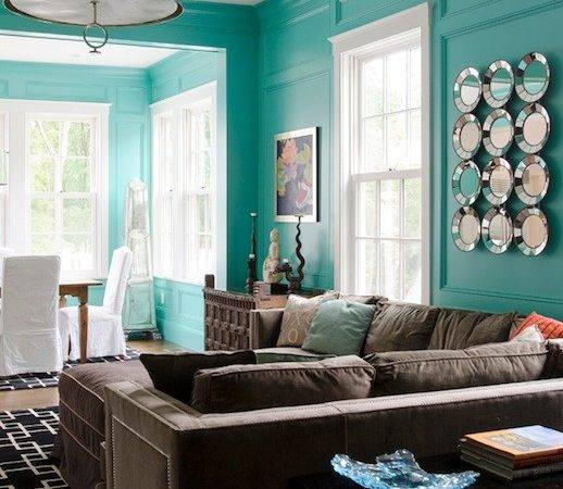 Tiffany Blue Living Room