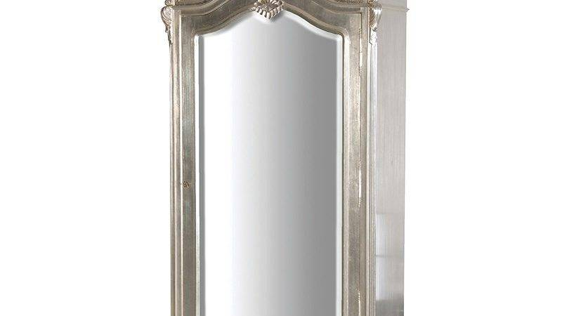 Tiffany Silver French Mirrored Armoire Bedroom
