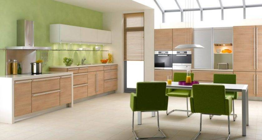 Tips Soft Green Kitchen Accent Wall White Light