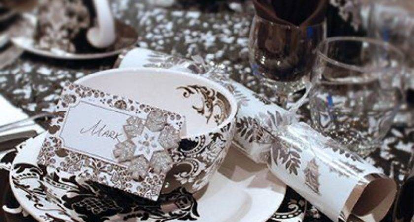 Top Black Silver Table Decoration Ideas