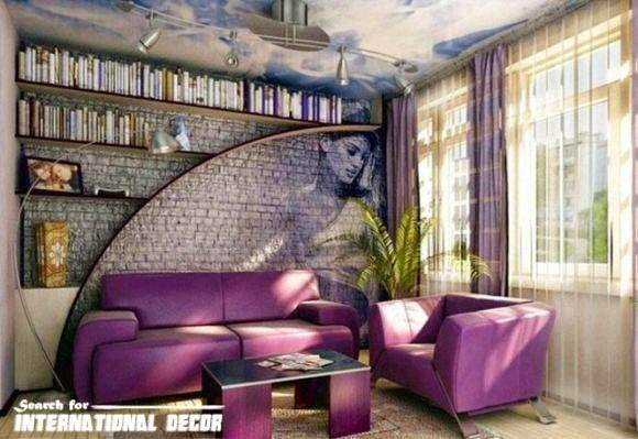 Top Trends Decorative Stone Wall Living Room
