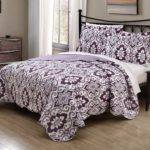 Total Fab Grey Purple Comforter Bedding Sets