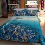 Total Fab Peacock Themed Colored Comforter